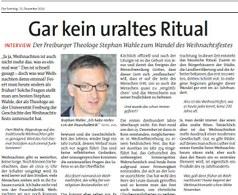 Gar kein uraltes Ritual (25.12.2016)
