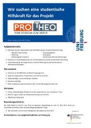 ProTheo sucht eine Studentische Hilfskraft